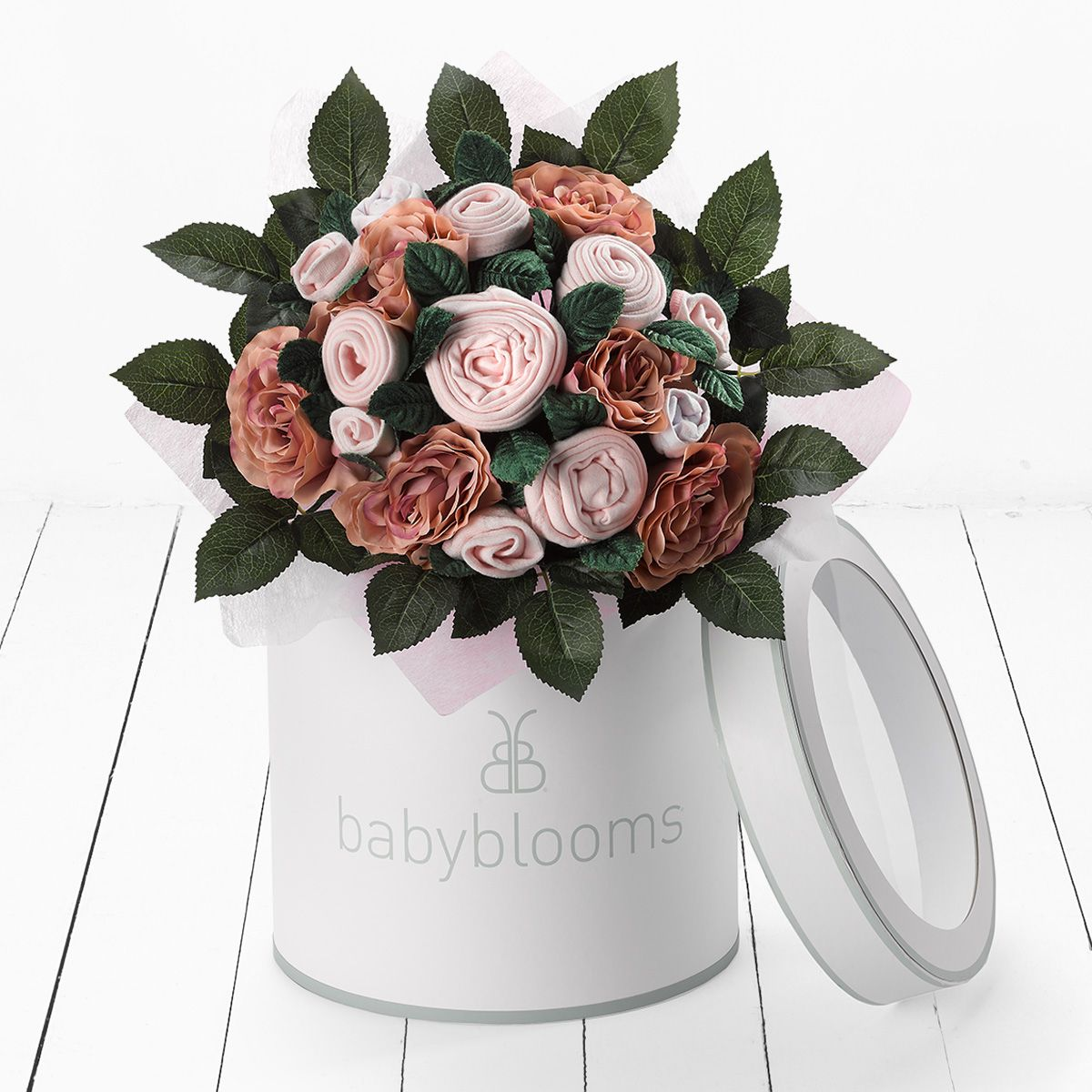 Luxury Rose Bouquet Pink Baby Clothes Bouquets Babyblooms
