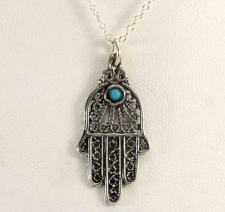 Vintage israel sterling silver turquoise hand of god hamsa pendant vintage israel sterling silver turquoise hand of god hamsa pendant 185 chain aloadofball Choice Image