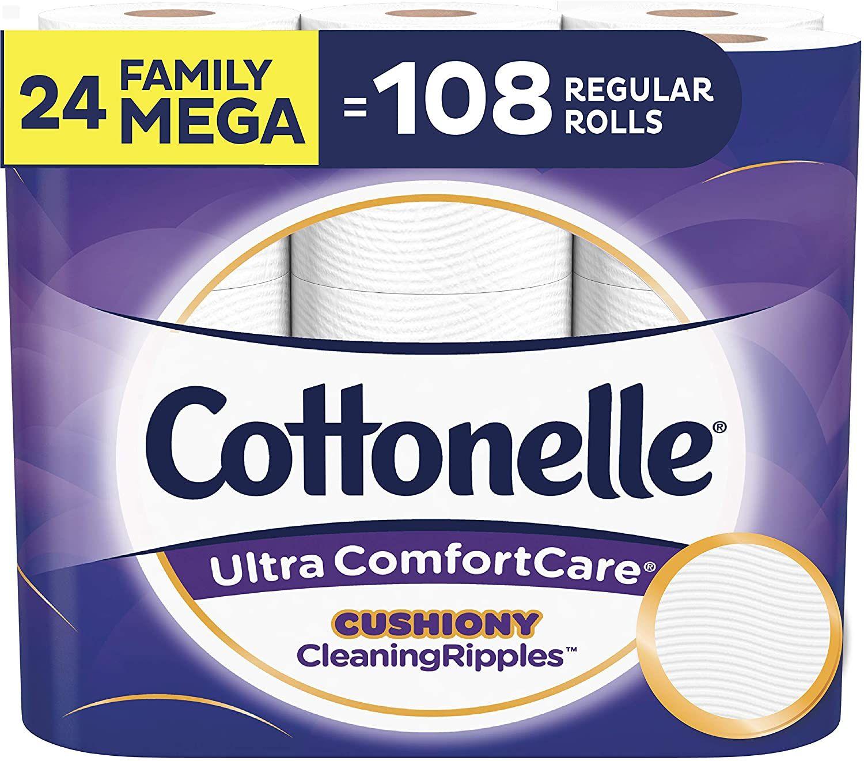 Soft Biodegradable Bath Tissue ... Cottonelle Ultra ComfortCare Toilet Paper