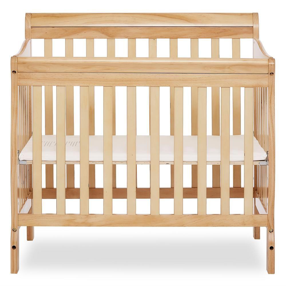 Dream On Me Aden Natural 4 In 1 Convertible Mini Crib Twin Size Bed Frame Mini Crib Cribs