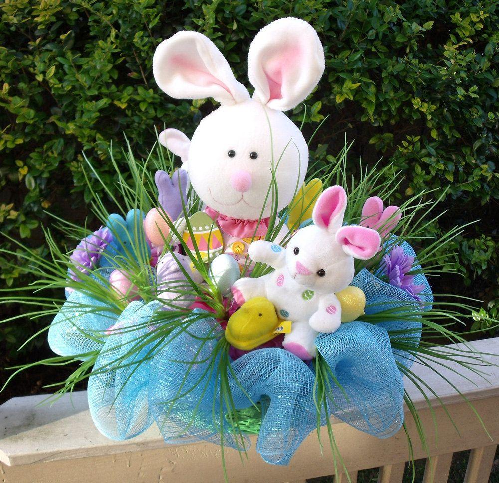 Easter Arrangement Ideas: Easter Centerpiece, Bunny Centerpiece, Easter Arrangement