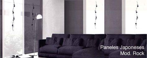 paneles japoneses rock ideales para en tonos grises platas y blancos