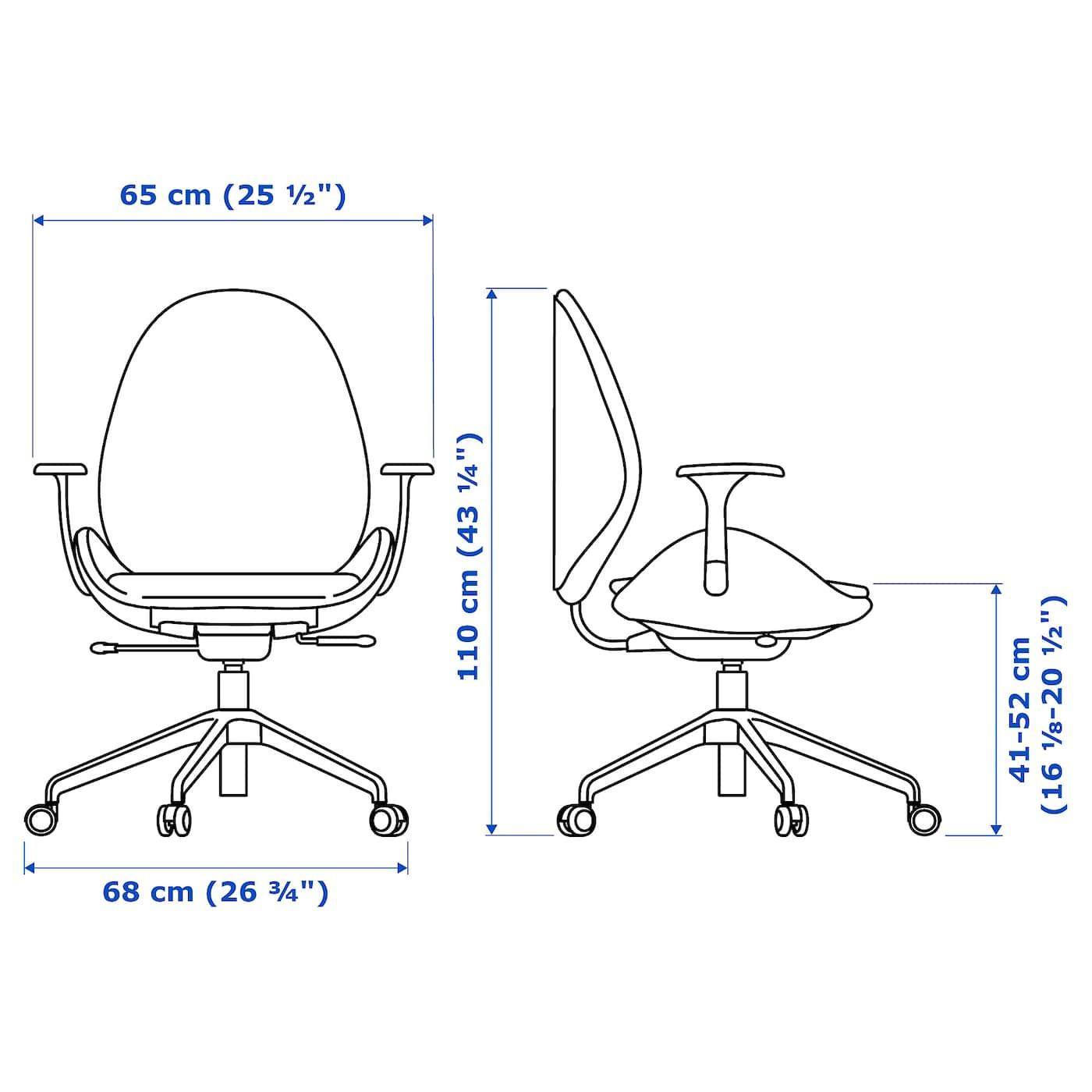 Hattefj 196 Ll Office Chair With Armrests Gunnared Medium