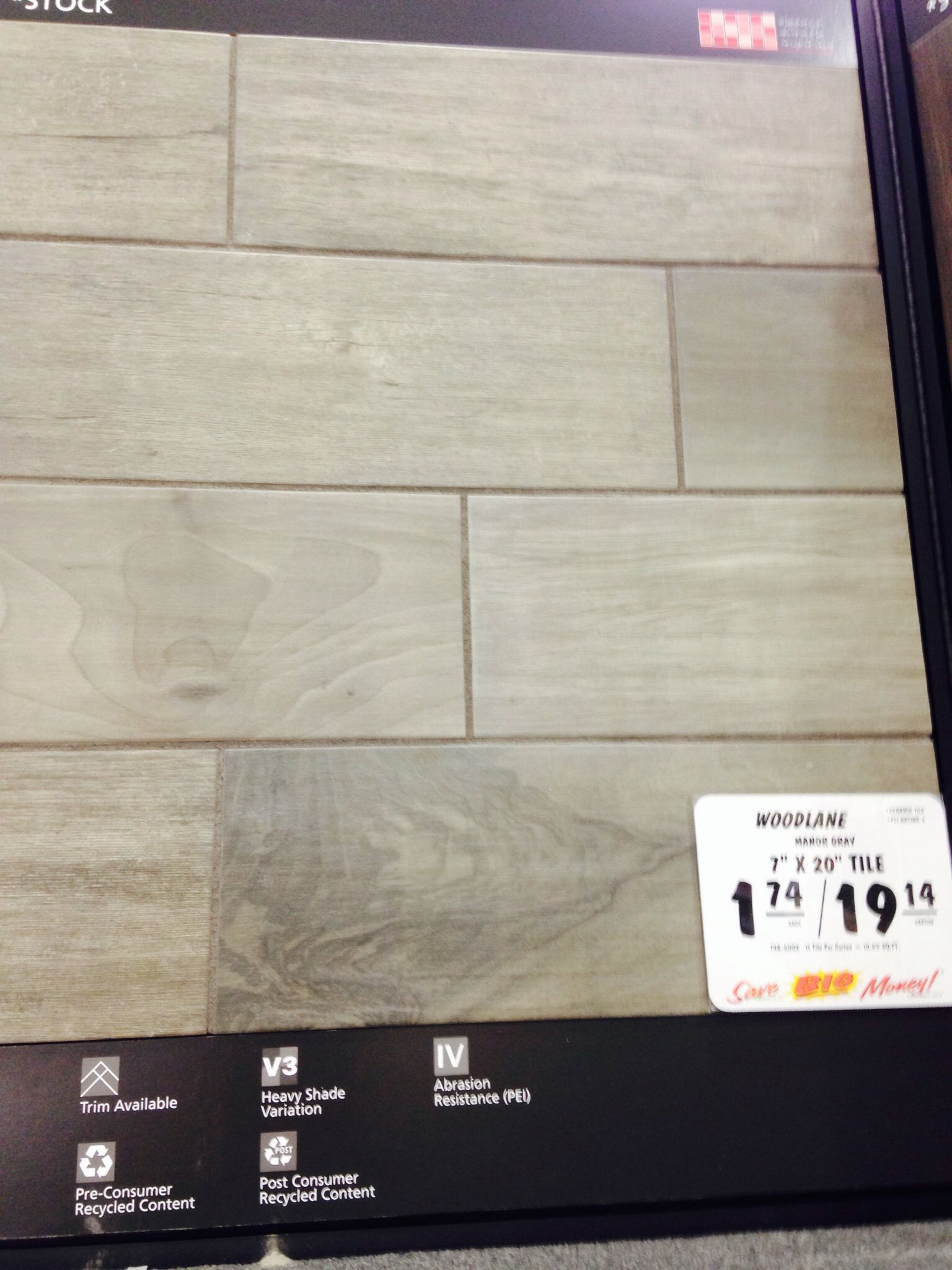 Bathroom flooring. Mohawk Woodlane Floor or Wall Ceramic