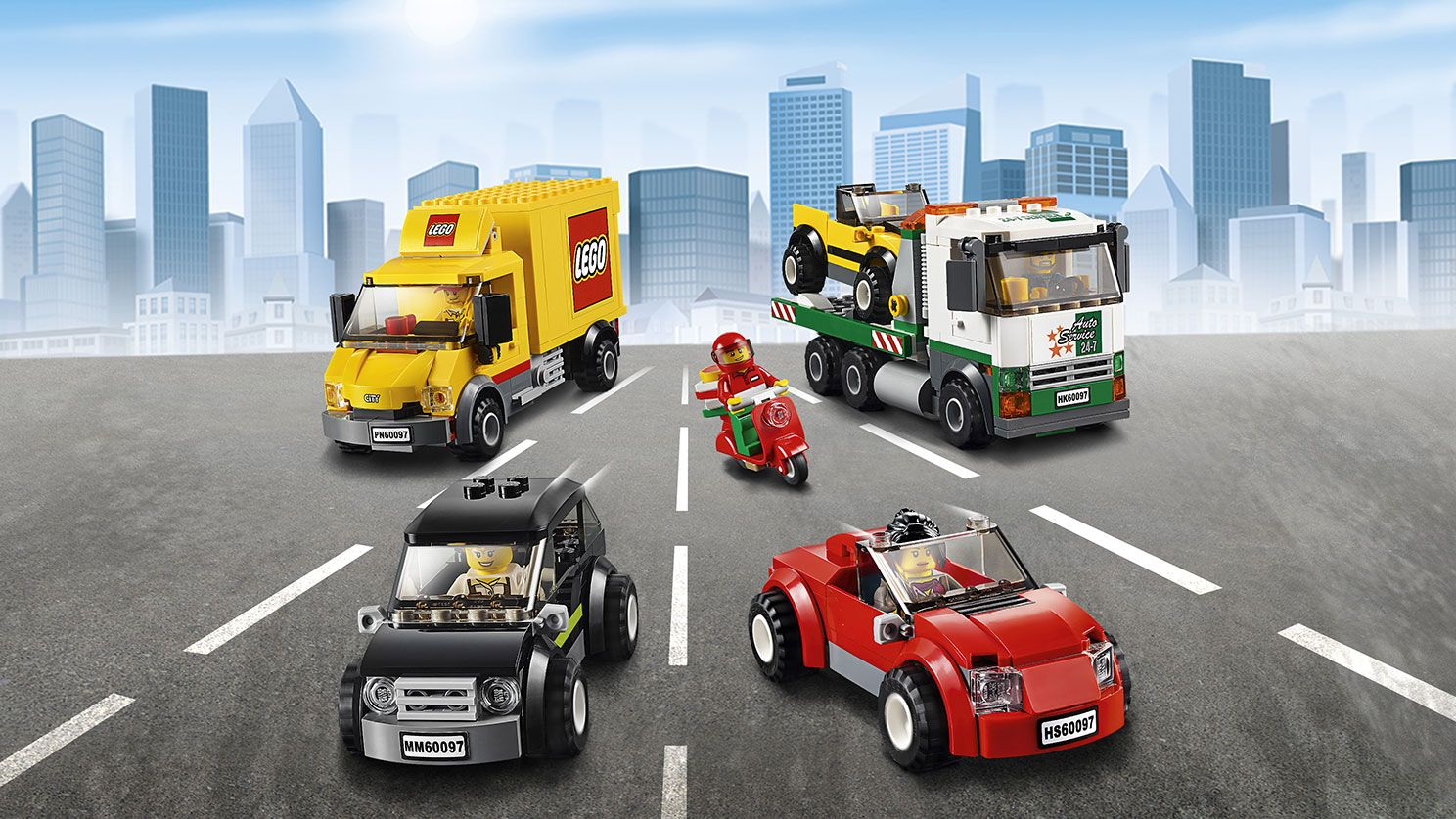 LEGO City Town cars and trucks - City Square 60097 (mit ...