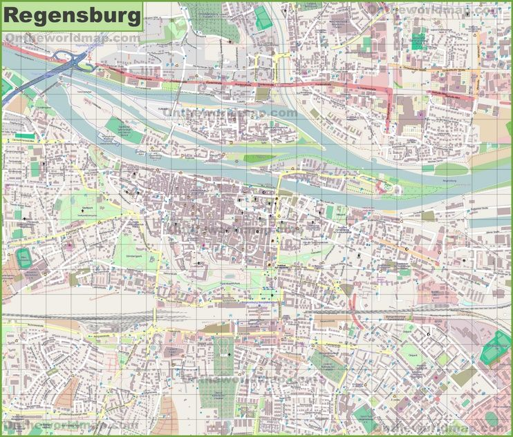 Large detailed map of Regensburg Maps Pinterest Regensburg and