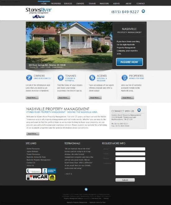 New Property Manager Website Stones River Property Management Murfreesboro Tn Http Www Stonesriverproperties Property Management New Property Property