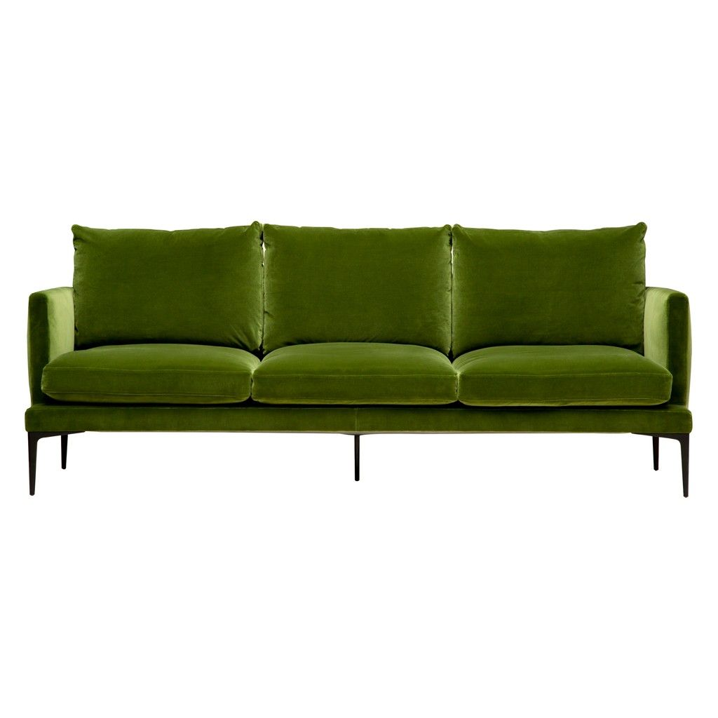 Clarence Sofa In Olive Green Velvet Sofas Armchairs Furniture Lighting The Conran