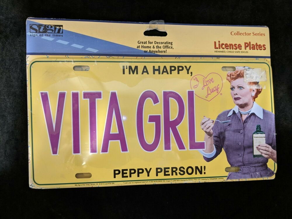 I Love lucy Lucille Ball license plate
