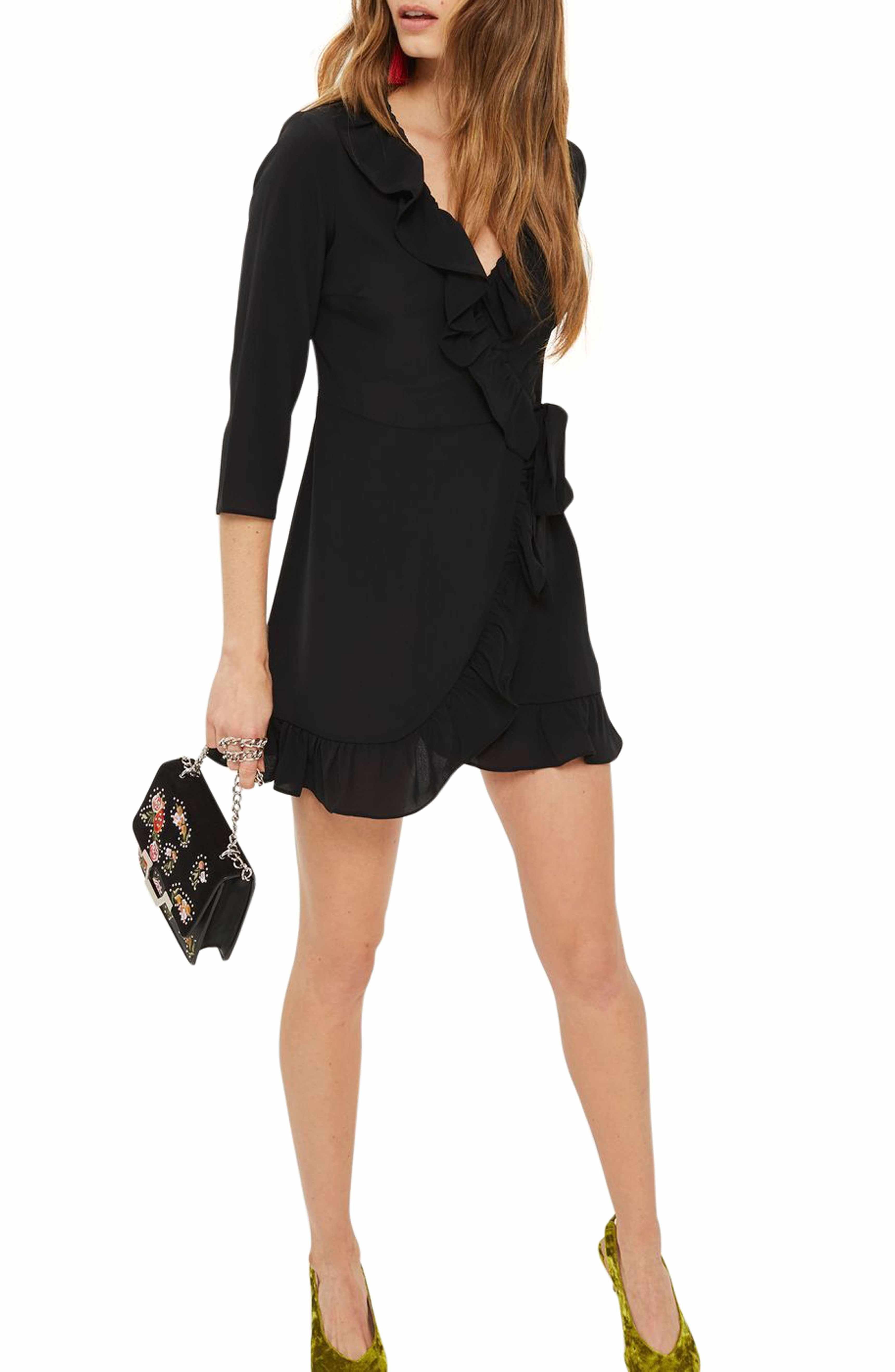 30e650e68c1e Main Image - Topshop Ruffle Wrap Dress | Fashion & Style after 50 ...