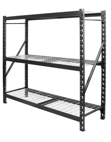 Edsal Men7224w3 77 W X 72 H X 24 D 3 Shelf Metal Shelving Unit At Menards Steel Shelving Metal Shelving Units Steel Storage Rack