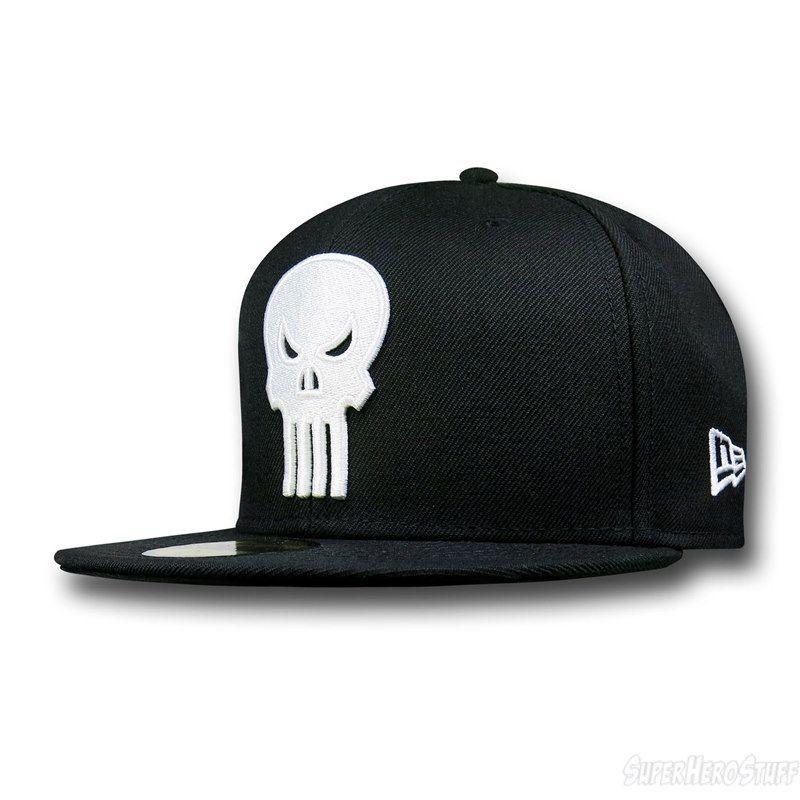 Punisher Symbol Black 59fifty Cap Punisher Symbol Superhero Hats Cap