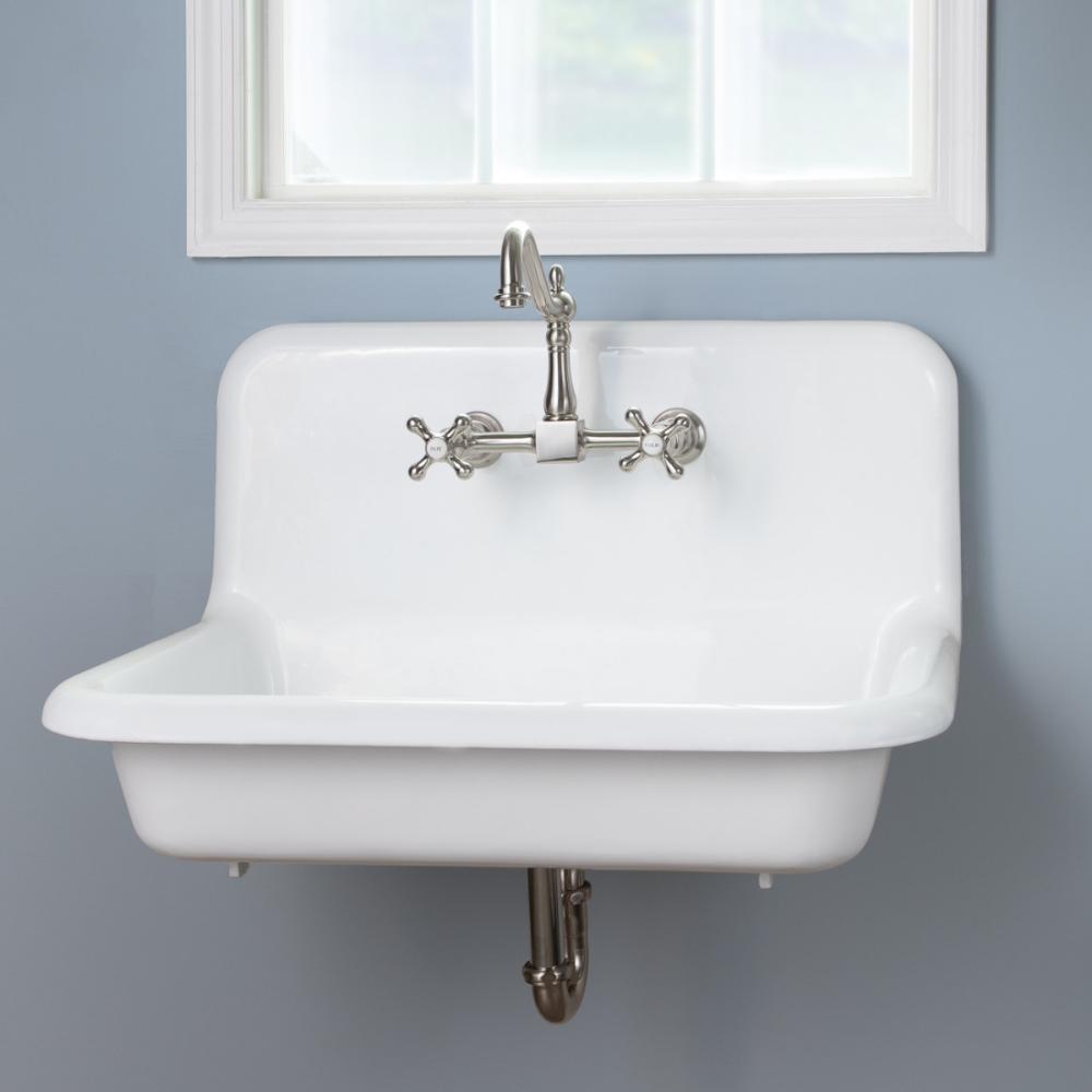 30 Inch Cast Iron High Back Farm Sink Vintage Bathroom Sinks Cast Iron Farmhouse Sink Farm Sink