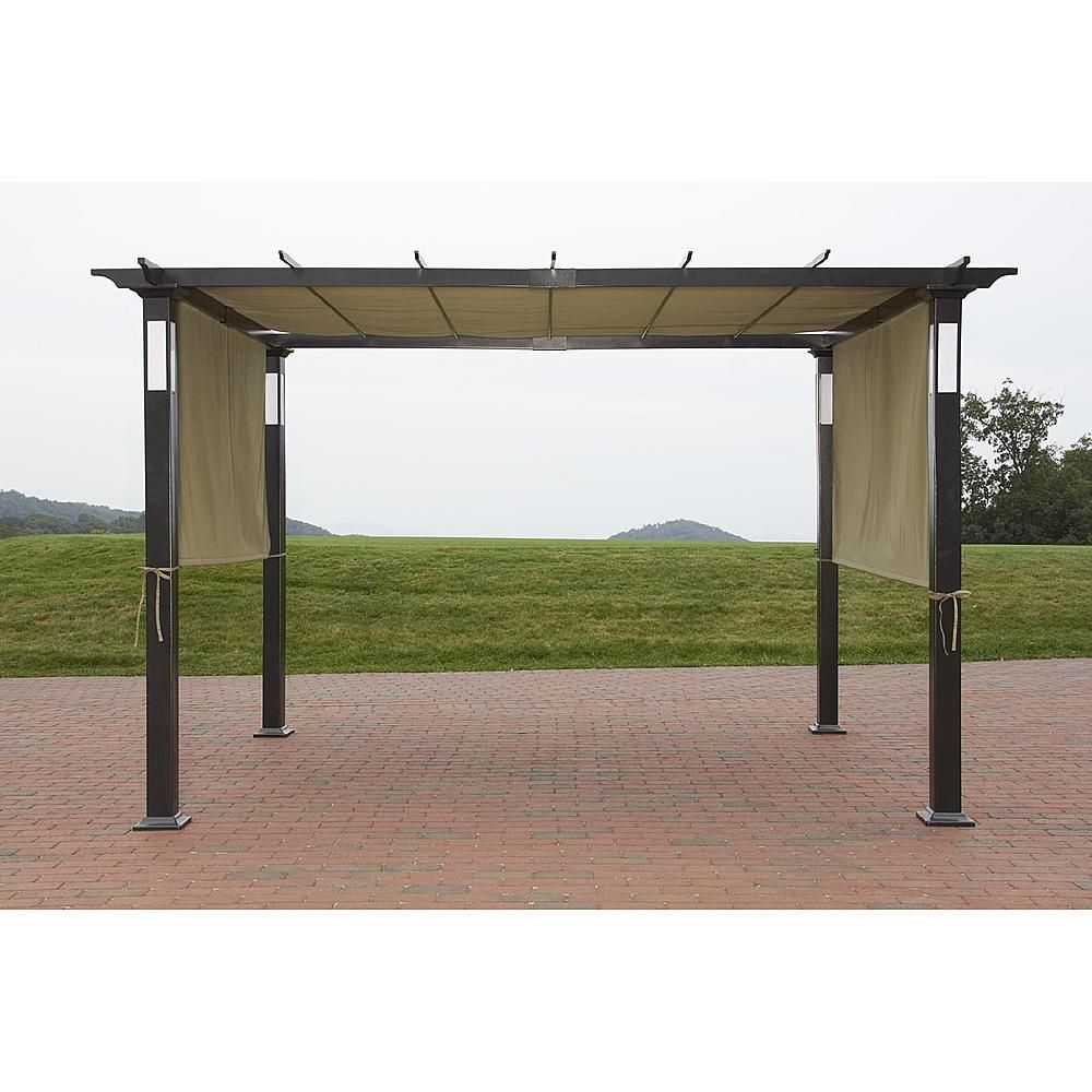 Privacy screen for chain link fence sears - Led Lighted Pergola Classic Sun Shade And Evening Shelter From Sears