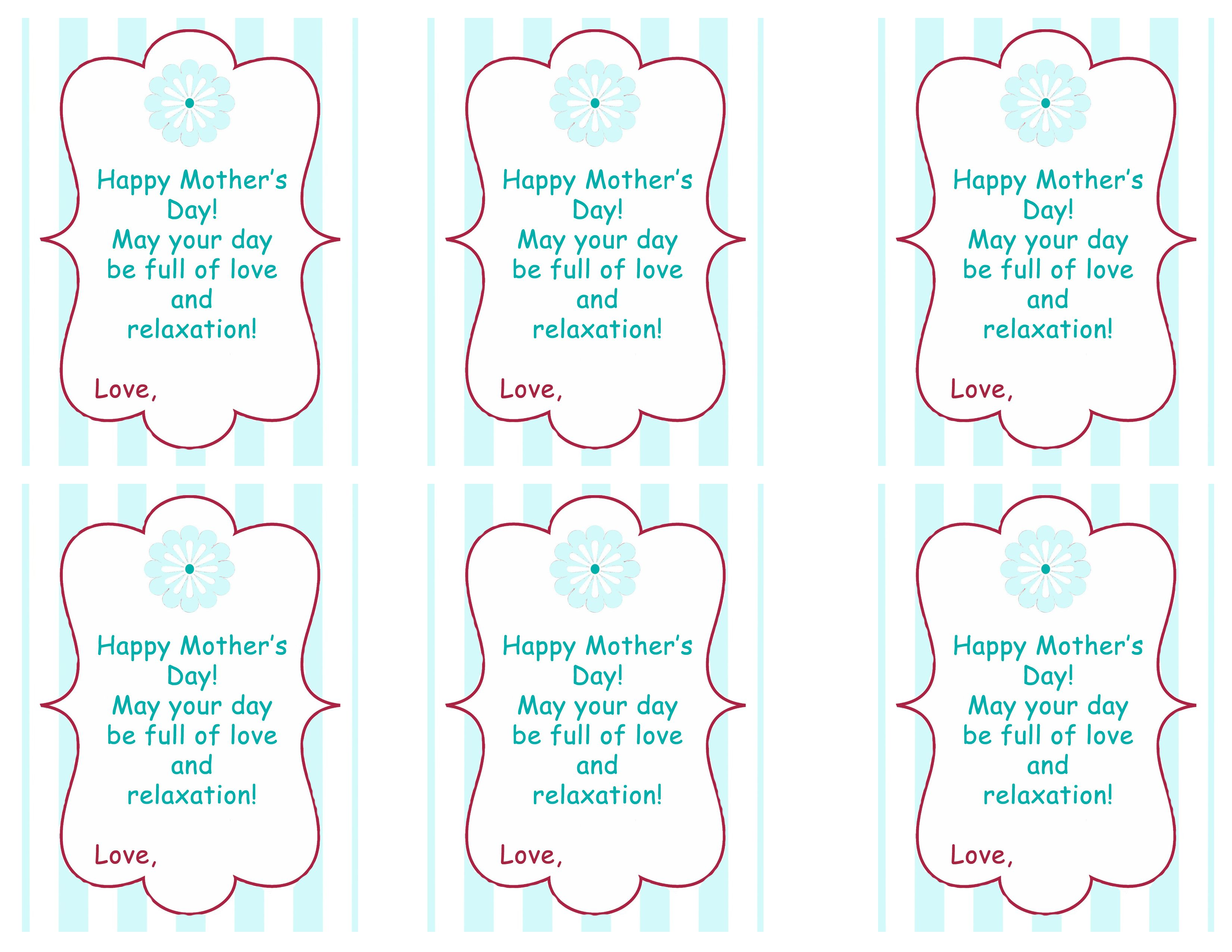 Mother S Day Tags: Printable Price Tags For Free