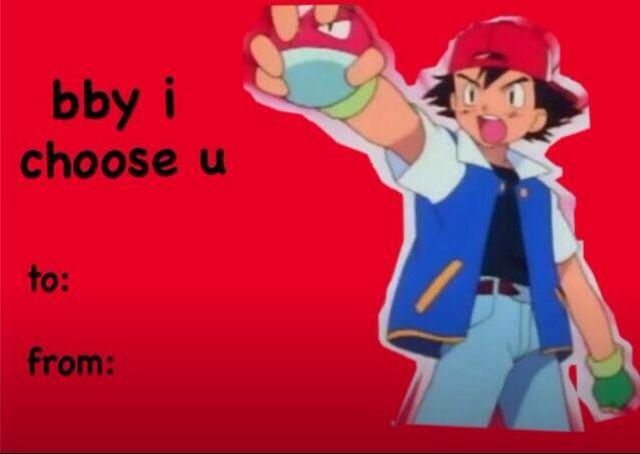 Pokemon I Choose You Valentines Day Card Meme Valentines Cards Valentines Memes Pokemon Valentine Cards