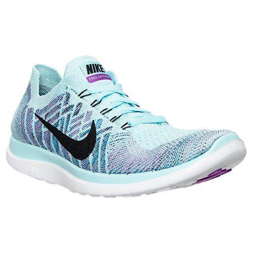 801dde6df1c9f Women s Nike Free 4.0 Flyknit Running Shoes - 717076 404