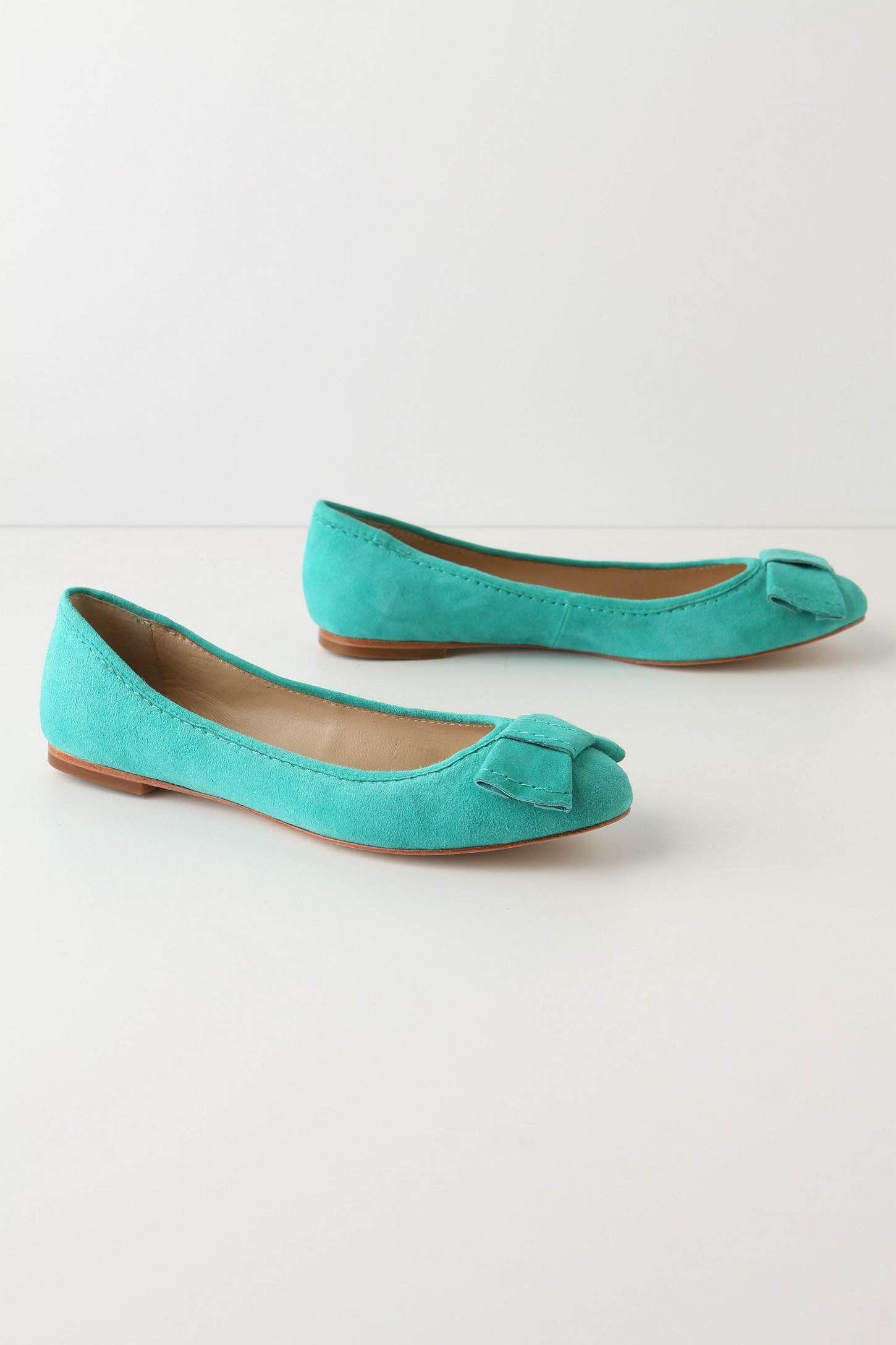 Make Fast Flats in Tiffany blue by Anthropologie (via strawberry heels forever http://strawberryheelsforever.blogspot.com/2011/04/what-im-loving-yellow.html) $108