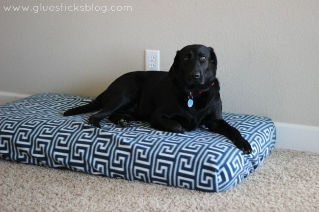 Easy Dog Bed It S A Crib Mattress With A Diy Fleece Cover