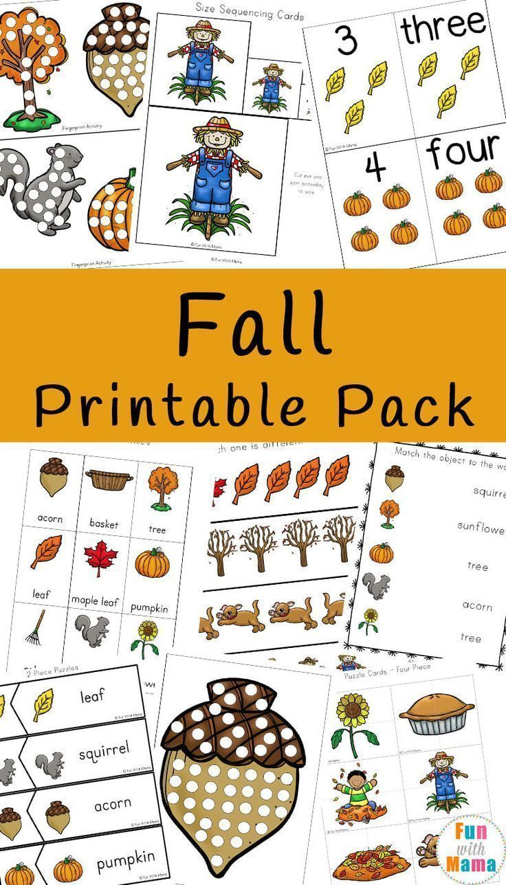 Fall Theme Activities For Kids Fall Theme Activities For Kids - Fun with Mama