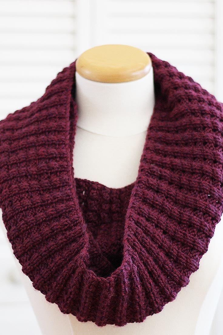 New Knitting Pattern] The Infinity Puffy Scarf   Knitting patterns ...