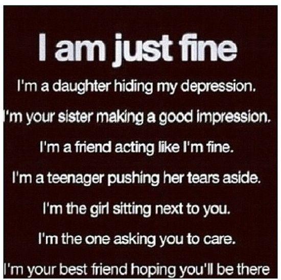 Sad Quotes About Depression: Best 25+ Im Fine Quotes Ideas On Pinterest