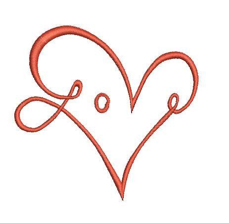 Love Heart Machine Embroidery Design Love Shaped Heart Emrboidery