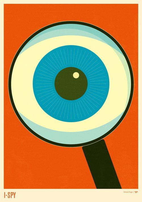 I-SPY by Simon Page: Definitely, a touch of humor for the office. #Simon_Page #Illustration #Graphic_Design