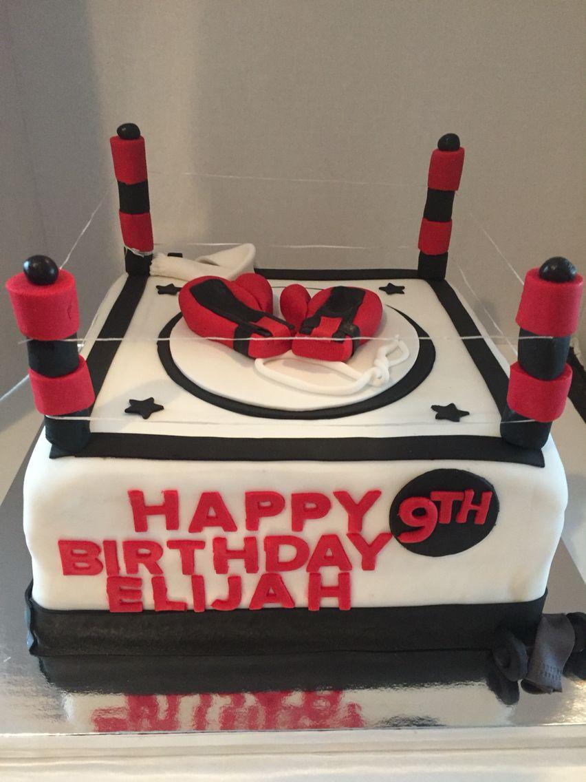 Boxing Ring Cake Geburtstagsideen Kuchen Idee