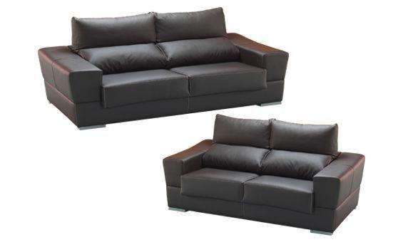 Sofas dos y tres plazas sofas tapizados en piel ecologica - Sofas elegantes diseno ...