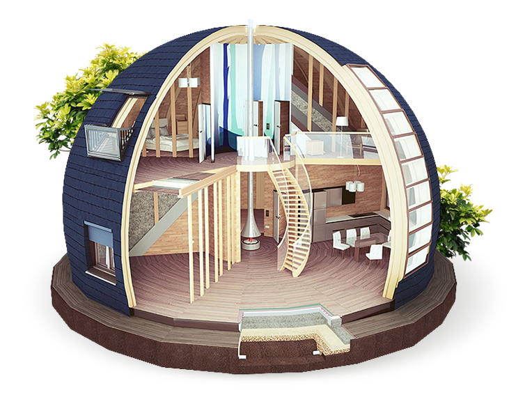 Mars Dome House Interior Design