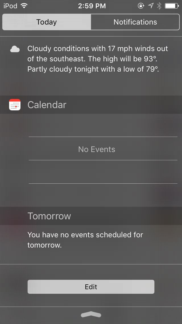 No plans.. No Events is my favorite event of all!🙄😒 Same tomorrow...This thing knows my life..