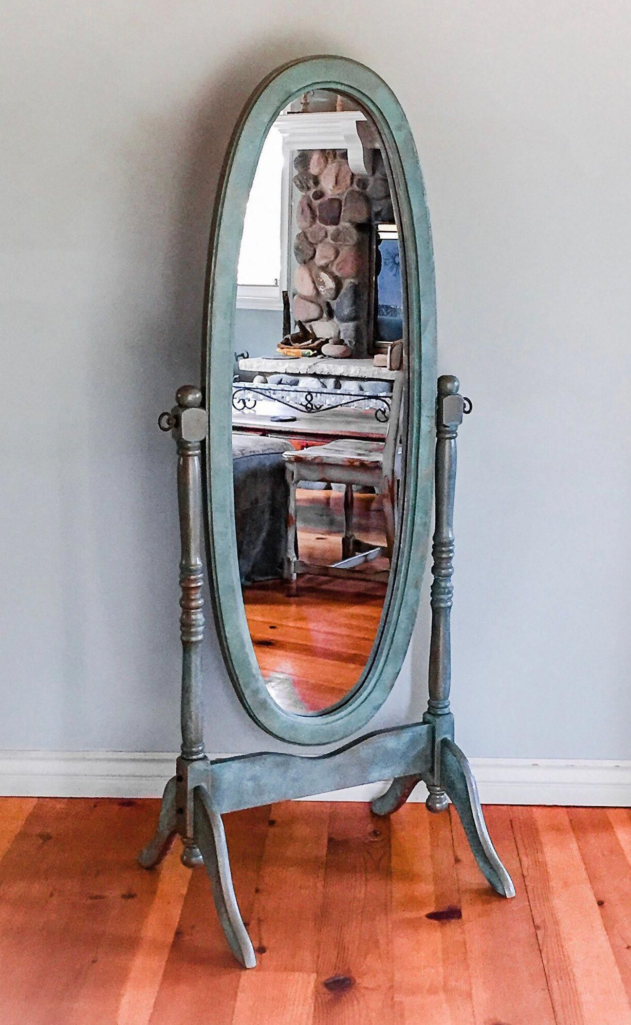 Antique patina rusted mirror shabby chic full length