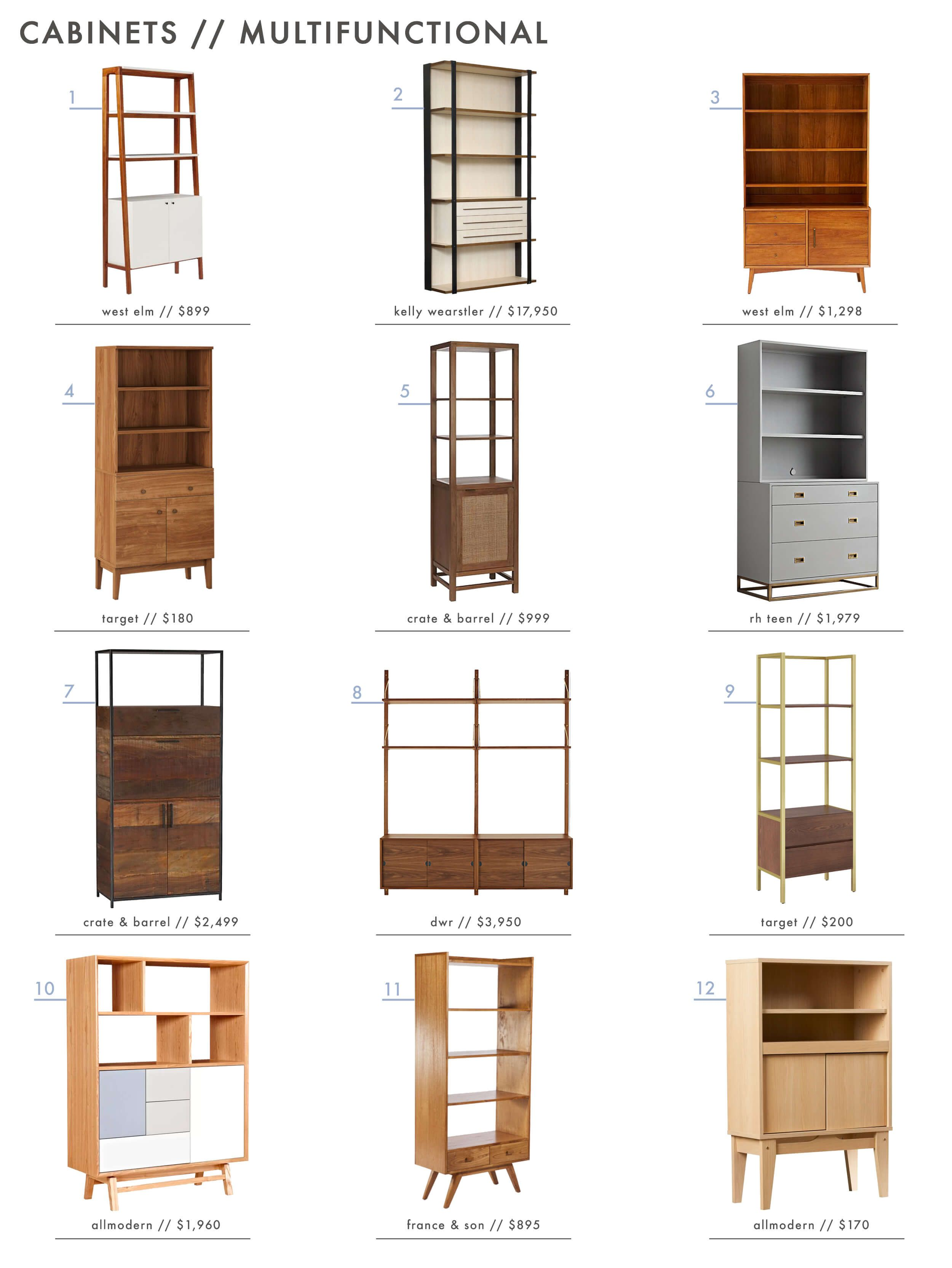 Rethink The Hutch: Storage Cabinet Roundup   Emily Henderson
