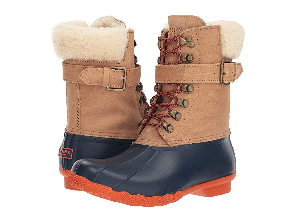 fantastic savings really cheap discount sale Sperry Shearwater (Tan/Navy) Women's Rain Boots. The Sperry ...