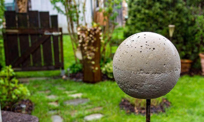 Bastelanleitung Betonkugel auf Eisenstange (Rosenkugel) Garden - trittplatten selber machen