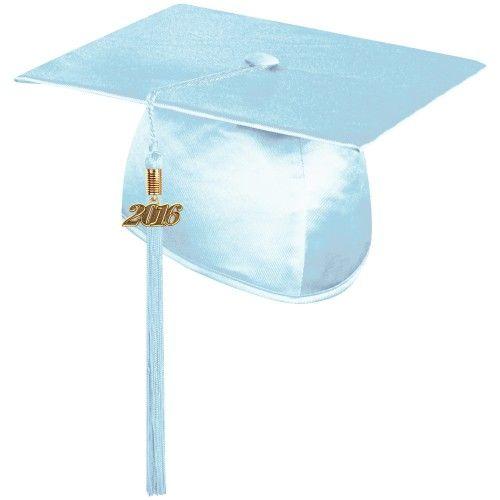 Shiny Light Blue Graduation Cap With Tassel Graduation World Offers High Quality Caps And Tassels At Prices Eve Blue Graduation Graduation Cap Beautiful Caps