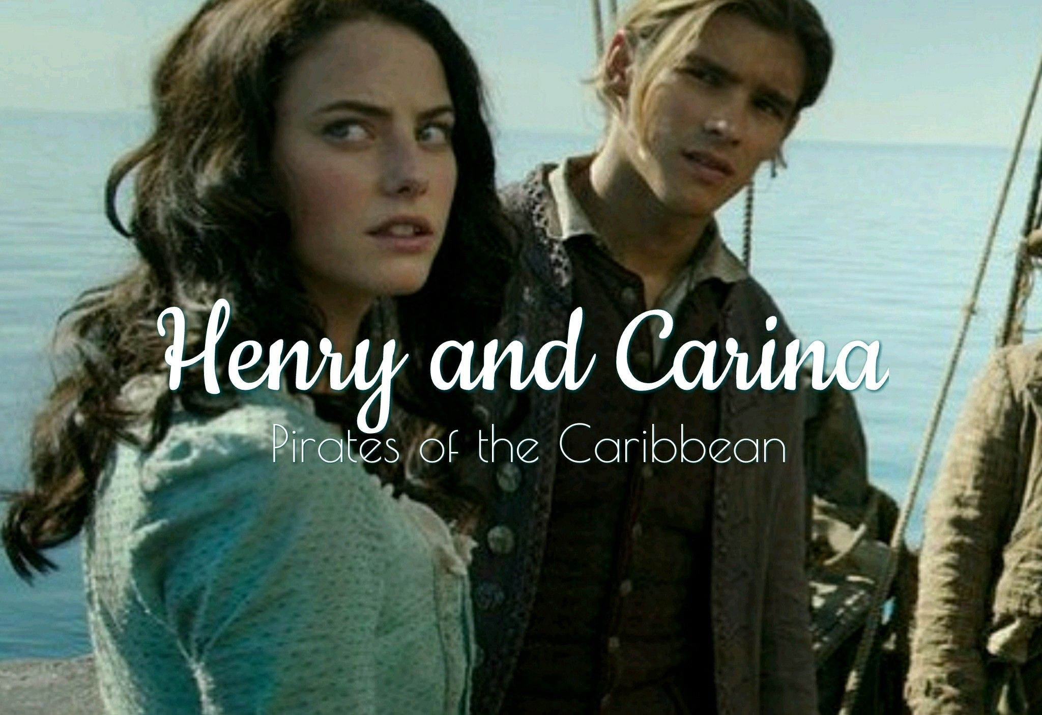 henry turner and carina smyth from pirates of the caribbean dead men