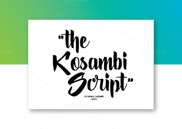 Download Kosambi Script by ihsankl on Creative Market | Silhouette ...
