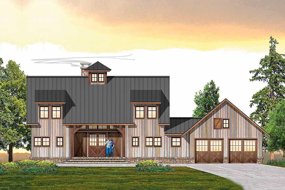 Plan 18878ck 3 Bedroom Farmhouse Plan With Main Floor Master Farmhouse Plans Modern Farmhouse Plans House Plans Farmhouse
