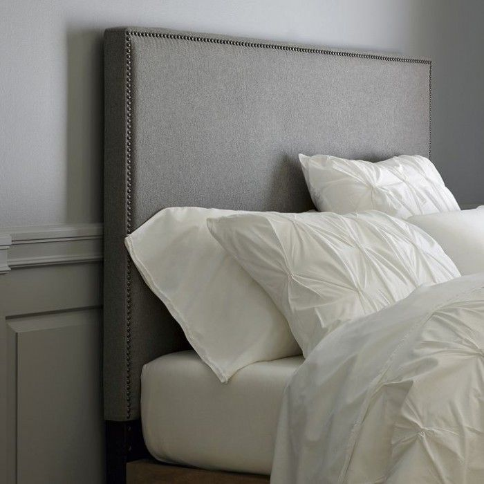 west elm inspired tall nailhead upholstered headboard- DIY ...