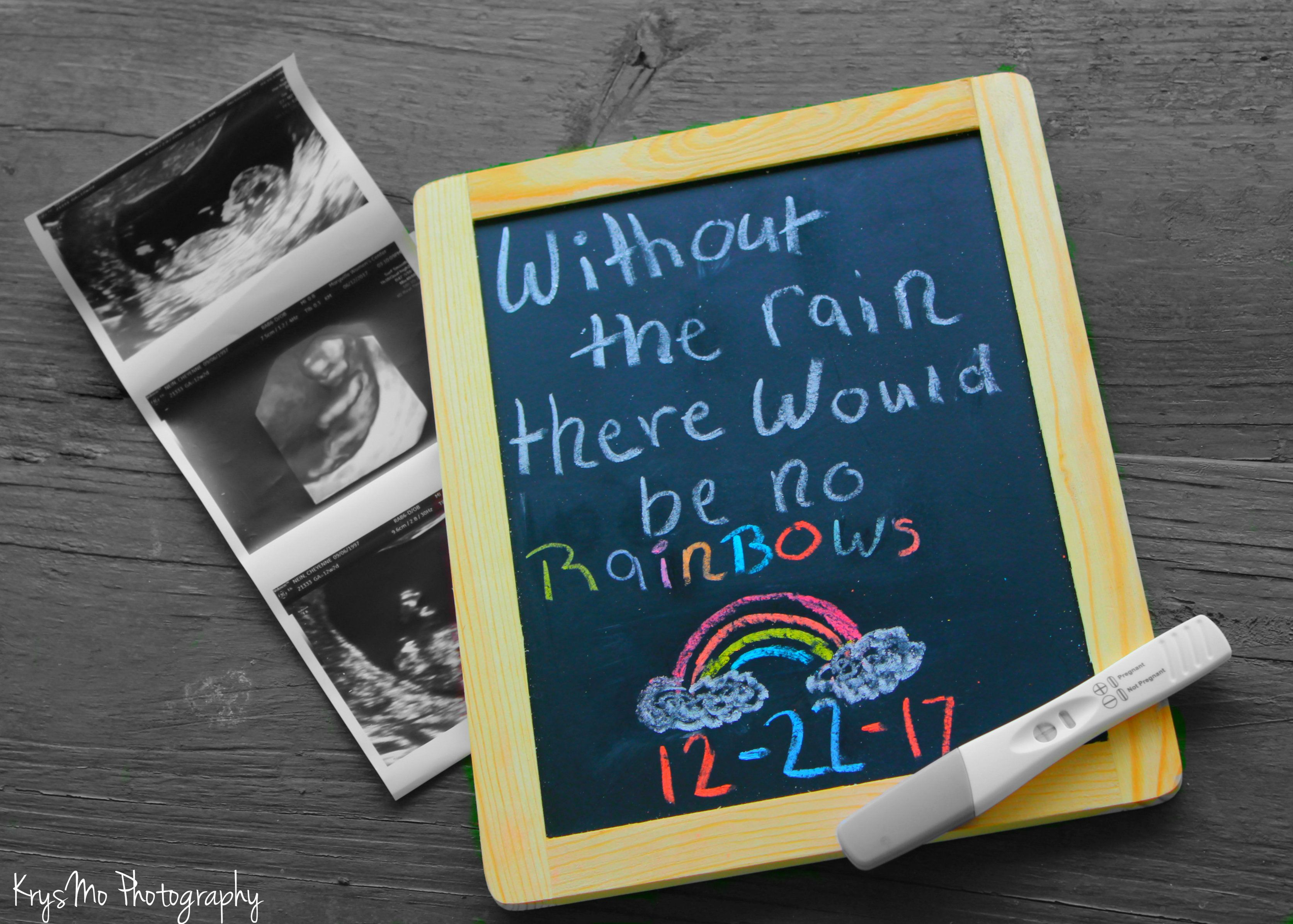 rainbow baby announcement chalkboard rainbowbaby photography