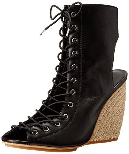Rebecca Minkoff Women's Elle Espadrille Wedge Sandal, Black, 8 M US $50.48