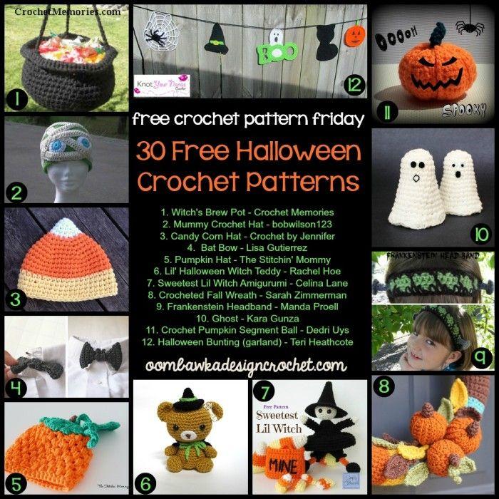 30 Free Crochet Patterns for Halloween #Halloween #crochet #freepattern