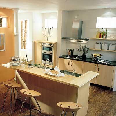 Cocina en u con isla peque a buscar con google casa - Salones modernos pequenos ...