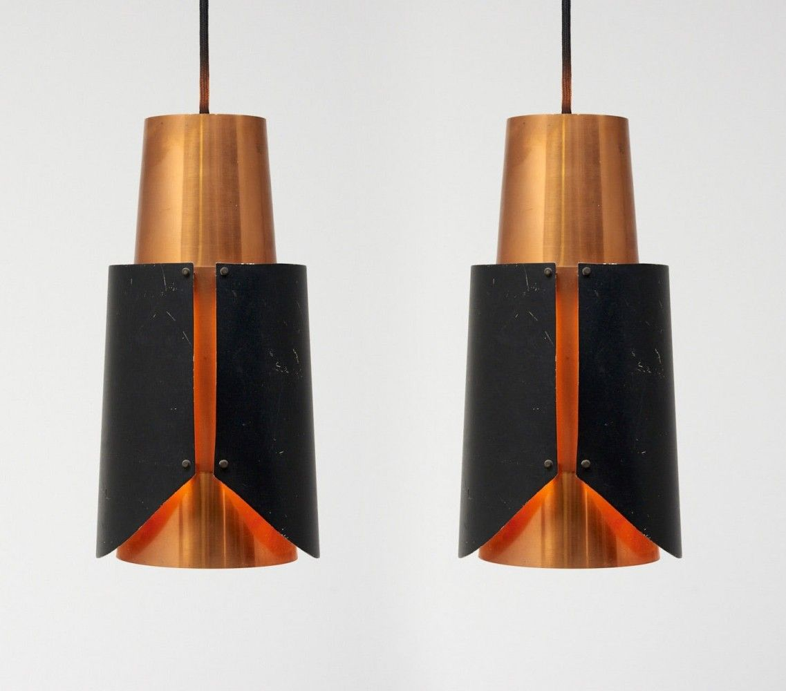 Pair Of Osterport Pendants By Bent Karlby For Lyfa 1960s Lamp Hanging Lamp Cool Chandeliers