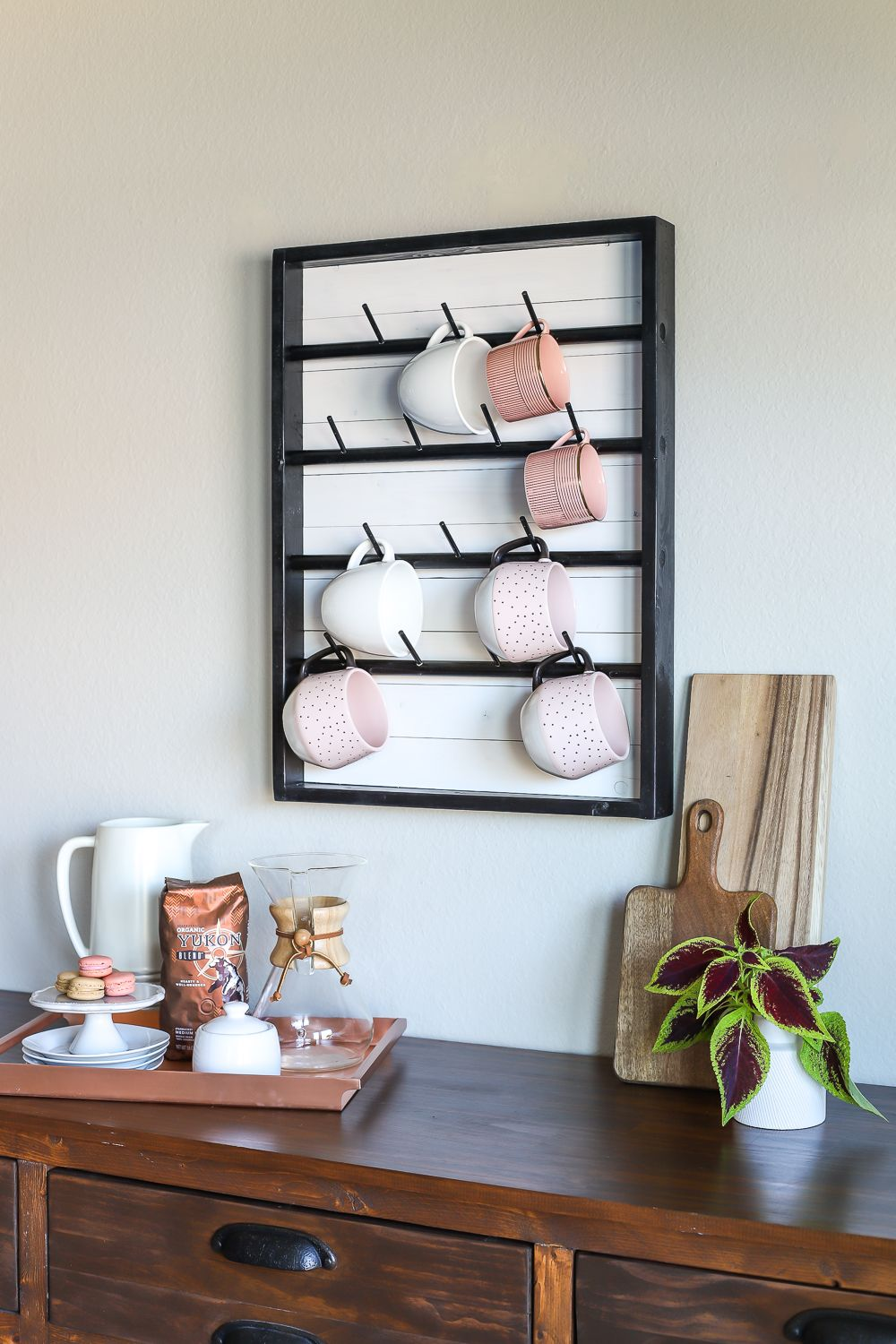 How To Make A Diy Wall Mounted Coffee Mug Display Rack Wall
