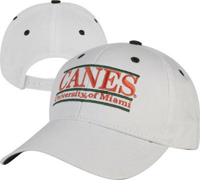 free shipping 85c6e 1cb4d Miami Hurricanes  The Game  Classic White Nickname Bar Adjustable Hat