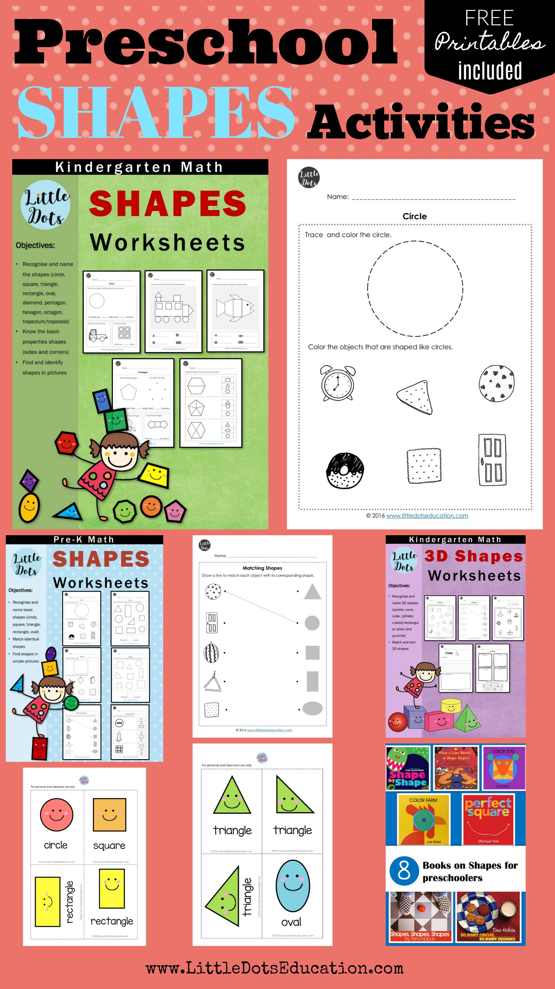 Preschool Shapes Activities Worksheets And Printables