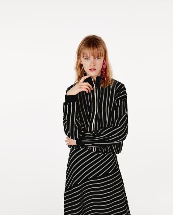 image 5 of asymmetric striped dress from zara